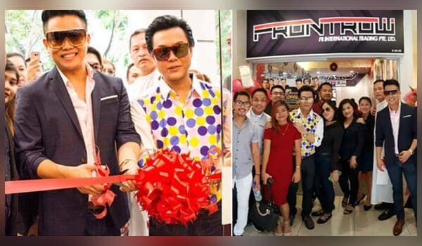 FRONTROW CEO Sam Verzosa and President RS Francisco cut the ribbon