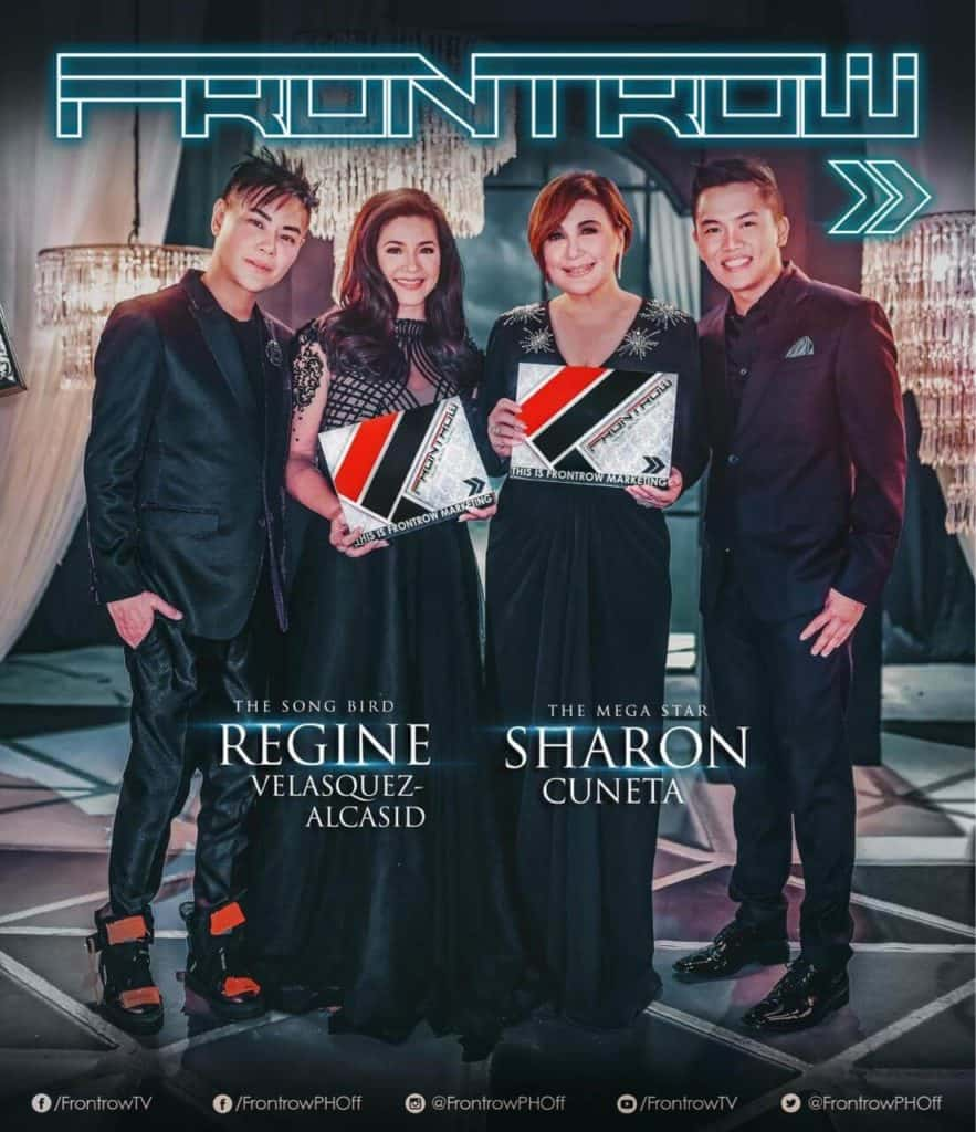 Sharon Cuneta and Regine Velasquez Is Now Frontrow